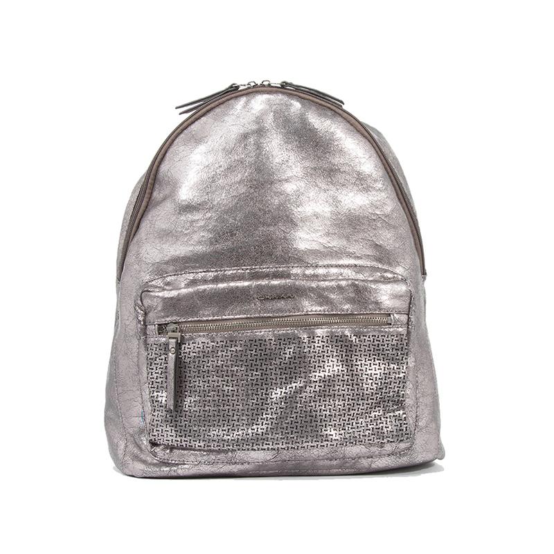 Rucsac Dama Ulrika Design 36-3421-8 Argintiu Metalizat